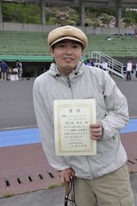 2010年 日本障害者自転車競技大会で優勝